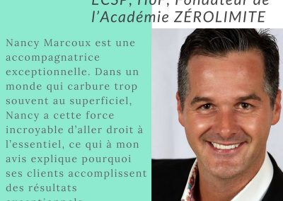 Publication Facebook Témoignage - Nancy Marcoux